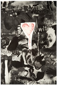 picabia i (cheer), ii (forgot), and iii (groans) (3) by jim dine
