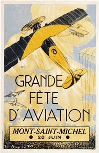 grande fête d'aviation mont-saint-michel by pierre fleury