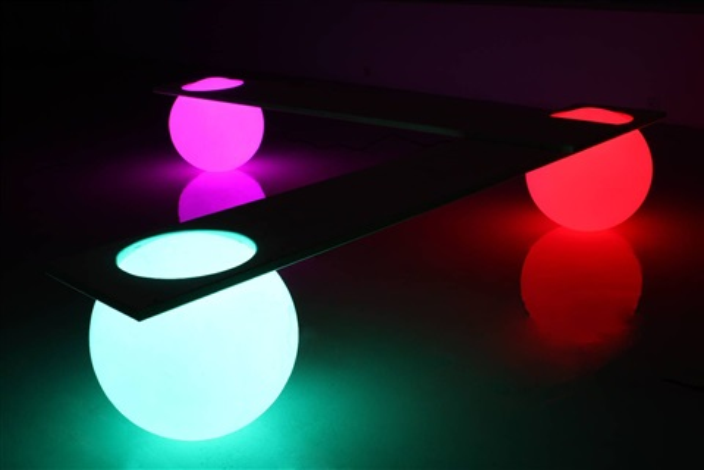 bank glowing light ball by manfred kielnhofer