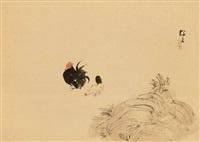 hahn und henne sowie ein düngerhaufen by okoku konoshima