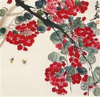 红花蜜蜂 by qi liangsi