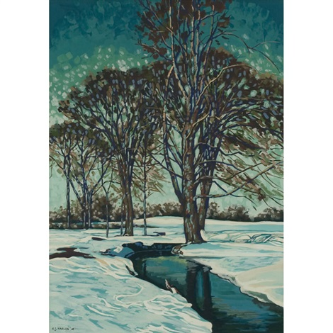 winter landscape by victor j harles