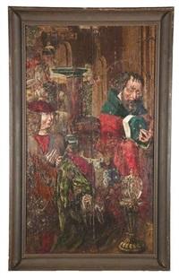 hl. balthasar, hl. joseph und stifter in anbetung des jesuskindes (+ maria mit dem jesuskind, melchior und balthasar; pair) by austrian school-tyrolean (16)