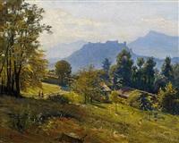 blick auf die salzburg by leo reiffenstein