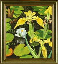 lilies and water lilies by leif madsen