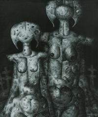 deux figures by jef van tuerenhout