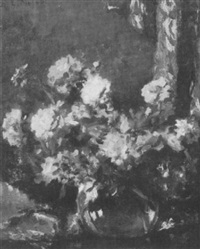 flowers in a vase by ernest lee major