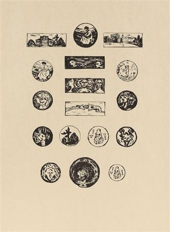 vignetten 17 works on 1 sheet by edvard munch