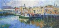 boats in port by rufino 'cebal' ceballos