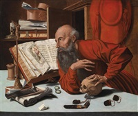 der heilige hieronymus in seiner studierstube by marinus van reymerswaele