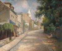 montmartre, la rue de l'abreuvoir by maximilien luce