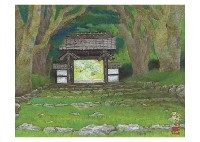 gate (kozen temple) and spring (2 works) by mikihiko tsuneoka