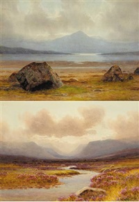 ganiamore from carrigart (+ the glenveagh hills, donegal; pair) by george drummond fish