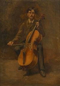 le violoncelliste by pierre (pieter) oyens