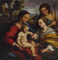 die mystische verlobung der hl katharina by correggio