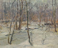 an ice bound brook by frank townsend hutchens