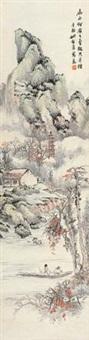古寺溪村图 by yao zhongfan