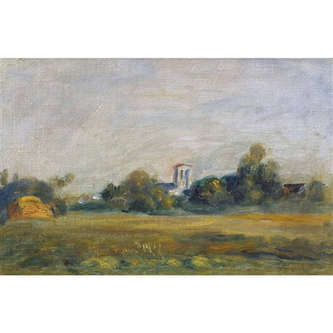 clocher dessoyes by pierre auguste renoir