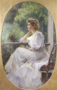 madame breakwell, seated at a window by marion saumarez