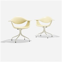 swaged leg chairs (model maf) (pair) by george nelson & associates