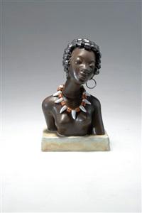 büste einer afrikanerin by leopold anzengruber
