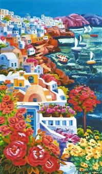 santorini e l'abbraccio del mare by athos faccincani