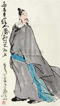 李白像 (character) by liu huaishan