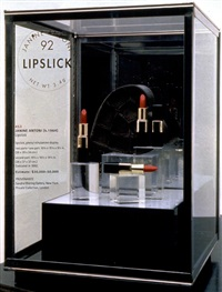 lipslick (in 2 parts) by janine antoni