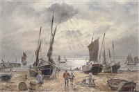 the shoreham fishing fleet returning at the end of the day by william edward atkins