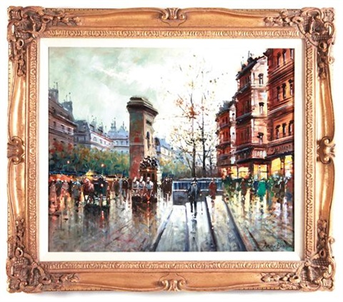 paris late afternoon by antoine blanchard