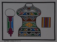 abstract pots by esther mahlangu