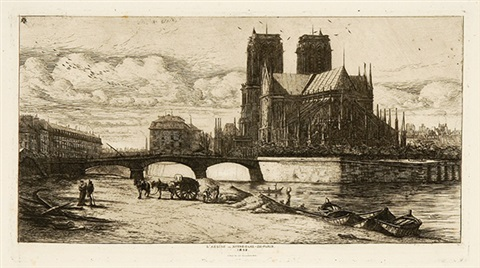labside de notre dame de paris 2 others 3 works by charles meryon