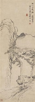 仿王翚白云精舍图 by li shizhuo