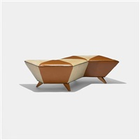 zigzag bench from the d'alba residence, glencoe by jordan mozer