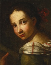 portrait of a young girl by pier toffoletti