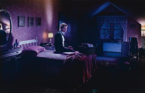 untitled winter mother on bed with blood by gregory crewdson