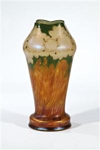 vase mit rosenfries by ferdinand von poschinger