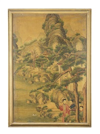 three narrative scenes by anonymous-chinese (qing dynasty)