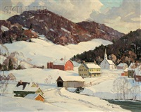 winter village at tunbridge v.t. by robert shaw wesson