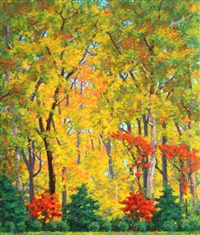 autumn landscape by garnet w. jex