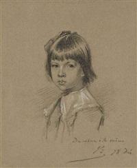 portrait d'un enfant en buste by alexandre bida