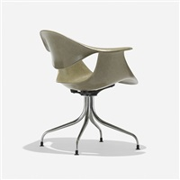 swaged leg chair (model maf) by george nelson & associates