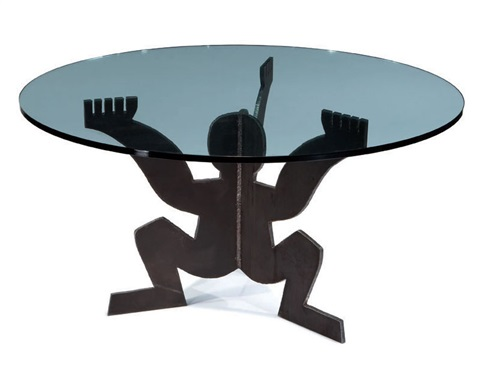 cerberino dining table by maurizio cattelan