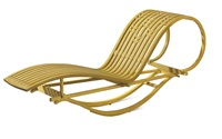 rocking chaise longue by michael hurwitz