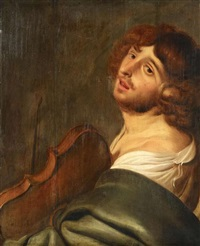 musikant mit einer viola by jacob adriaensz de backer