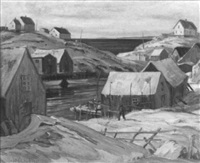 winter at peggy's cove by william edward de garthe