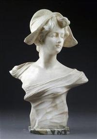büste einer jungen dame by aristide petrilli