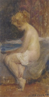 a female nude bathing by emmanuel fougerat