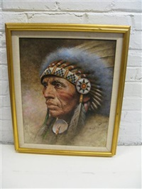 portrait of an indian chief by jim abeita