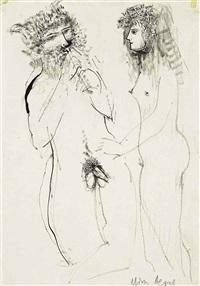 pan and selene (study) by minos argyrakis